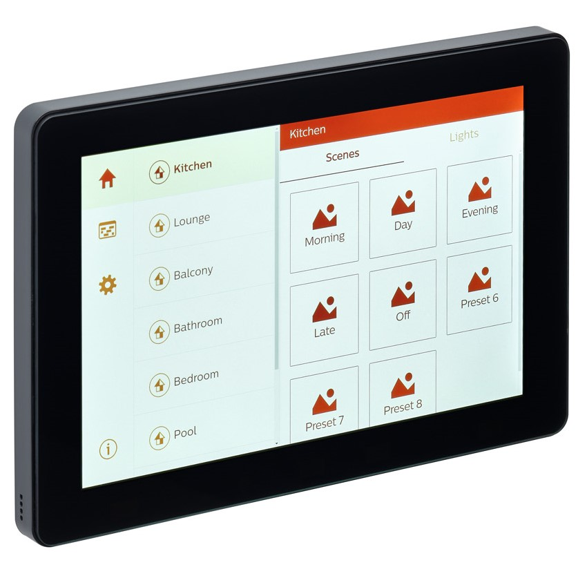 Philips Dynalite have released a new touch screen interface…  Philips Dynalite Touch Screen PDTS